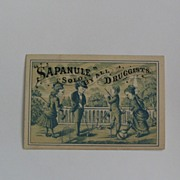 Sapanule Cure All Sold by All Druggists Trade Card