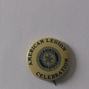American Legion Celebration Pinback Button