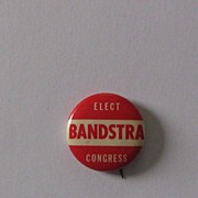 Bert Andrew Bandstra for US Congress - pinback