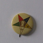 Order of Eastern Star pinback - by St. Louis Button Co