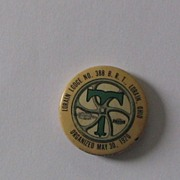 Lorain OH Lodge 388 Brotherhood Railroad Trainmen Pinback