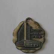 Metal Tag First National Bank of Miami Founded 1902