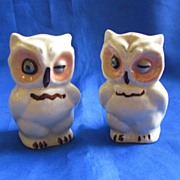 Shawnee Pottery Owl Salt and Pepper Shakers