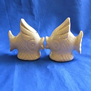 Ceramic White Fish Salt and Pepper Shakers
