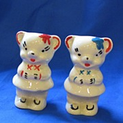 Ceramic Bears Salt and Pepper Shakers