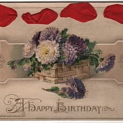 John Winsch A Happy Birthday Postcard Red Ribbon