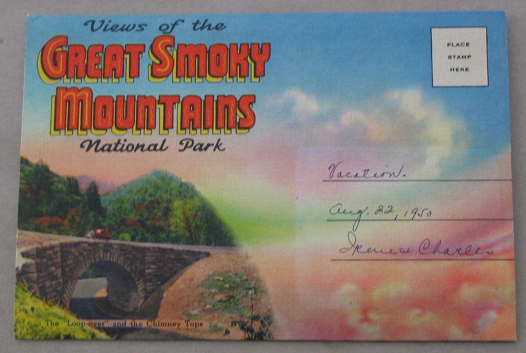 Souvenir Folder Great Smoky Mountains National Park