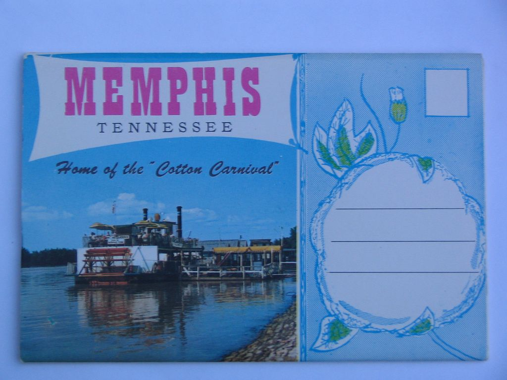 Chrome Souvenir Folder of Memphis Tennessee