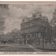Main Building Vassar College Poughkeepsie NY New York Vintage Postcard