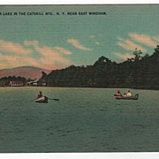 Silver Lake Catskills East Windham New York NY Postcard