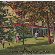 White Horse Lodge Haines Falls New York NY Postcard