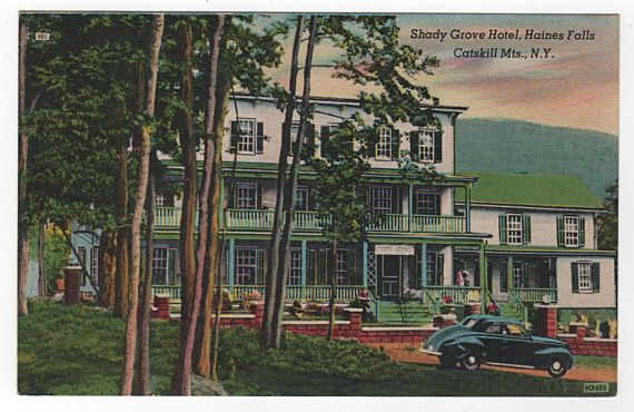 Shady Grove Hotel Haines Falls New York NY Postcard