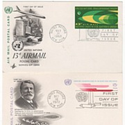 3 FDCs U N Postal Stationery Air Mail Cards '68 '72 '72