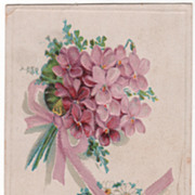 Greetings with a Fond Love Good Luck Vintage Postcard