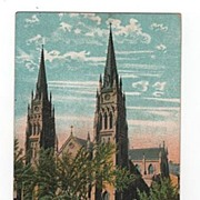 Catholic Cathedral Immaculate Conception Albany New York postcard
