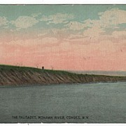 The Palisades Mohawk River Cohoes New York NY Postcard