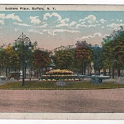 Soldiers Place Buffalo New York Postcard
