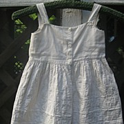 19th C. Child's White Quilted Petticoat~Glass Buttons