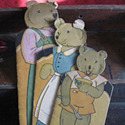 Antique Three Bears Book- Set of 3, 1932-Read & Color, Agnes Durick