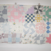 Vintage PA Crib Quilt~SAMPLER Patchwork*Calico