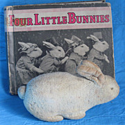 Vintage~ Four Little Bunnies~ Childrens Picture  Book, c30's Live Animals