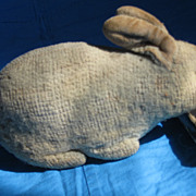 Early Tiny Wool Plush Bunny, Likely Steiff Crib Toy