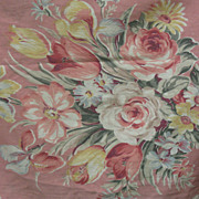 Fab Vintage Peach Floral c30's Cover/Fabric