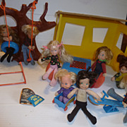 Mattel Honey Hill Bunch Dolls and Clubhouse Vintage 1970s