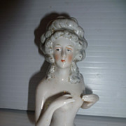 German Bisque Half Doll Nude Hands Away Vintage
