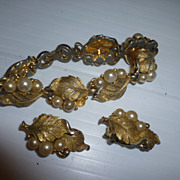 Pennino Bracelet and Earrings Vintage Jewelry Set