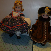 AT AUCTION Madame Alexander Dolls Alexanderkins Autumn Breeze and Dolly MIB