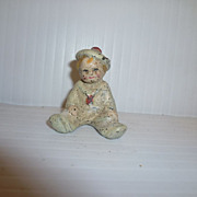 SOLD Vintage Cast Iron Child Seated Figure Wilton or Hubley