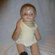 Vintage Composition Character Boy Doll Straw Body