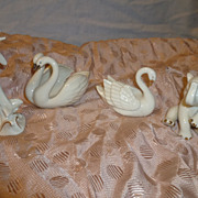 Four Lenox Animals Small Swan Dolphone Elephant