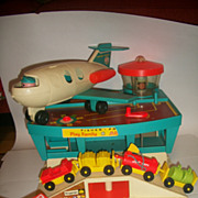 Vintage Fisher Price 1972 Play Family Airport Complete!