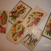 Antique Calling Cards Victorian Greeting Vintage Scrapbooking