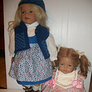 Pair Heidi Ott Swiss Dolls Artist Doll