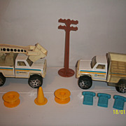 Vintage Buddy L Bell Telephone Equipment and Bucket Truck Accessories