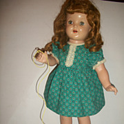 1940s Composition Doll Vintage Girl