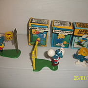 Four Vintage Super Smurf Lot Peyo Car Vehicles More