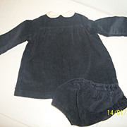 SALE PENDING Original Sasha Doll Blue Cord Dress and Panties Vintage