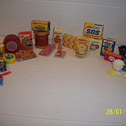 Vintage Doll Dollhouse My Merry Food and Products Ginny Barbie Comp