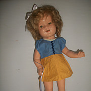 "Ideal 16"" Composition Shirley Temple Doll Clear Eyes"