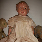 Composition Doll Effanbee Somber Baby Grumpy C 1914 Antique So Rare