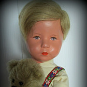 SALE Sweet 1950's Kathe Kruse US Zone Boy Doll Germany