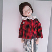 Large Bisque Sylvia Natterer Handmade Original Boy Doll 1993
