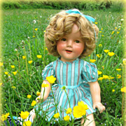 "Ideal Composition Shirley Temple Doll Large 20"" Size Lovely"