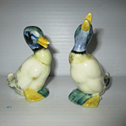 Pair Stangl Pottery Duck Figurines Mallards 1950s