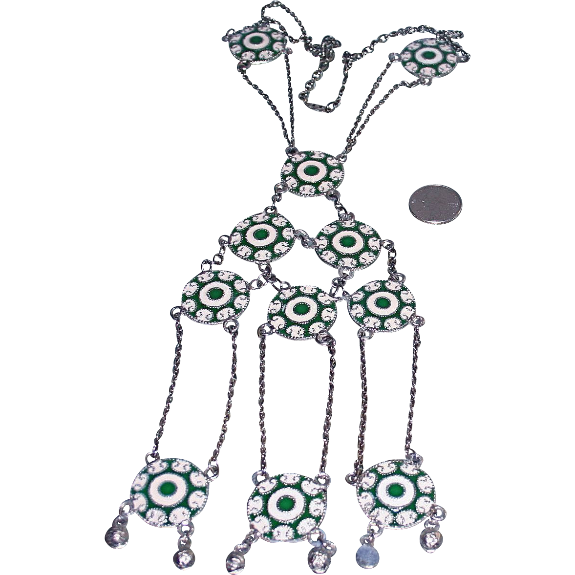 Egyptian Revival Couture Runway Modernist Disc Necklace From Randomharvest On Ruby Lane