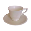 Satin Crme Yellow GMcB Franciscan Coffee Cup & Saucer Pottery